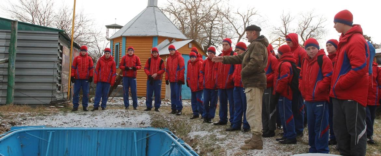 Занятия с курсантами президентского кадетского корпуса...